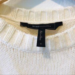 BCBGMaxAzria Sweaters - BCBG Cold Shoulder Boxy Sweater NWOT
